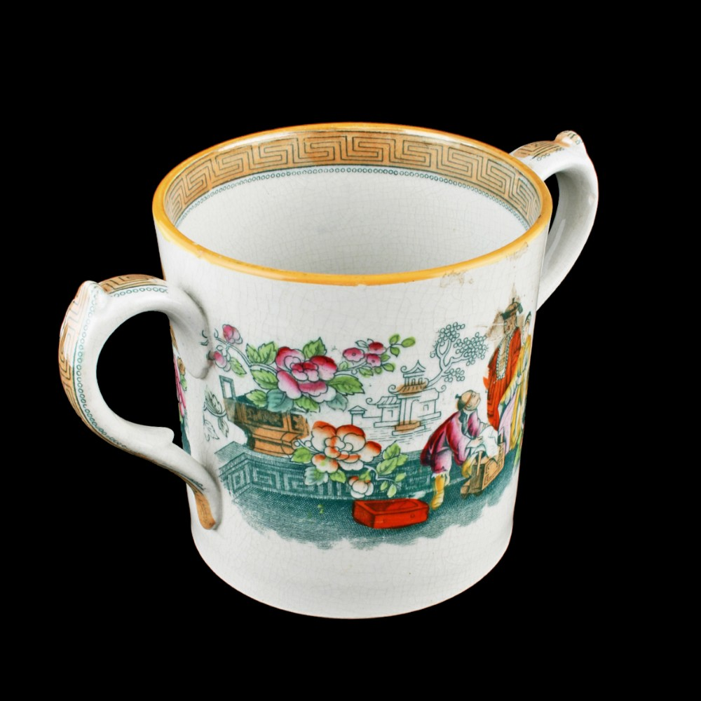 staffordshire two handled quart tankard