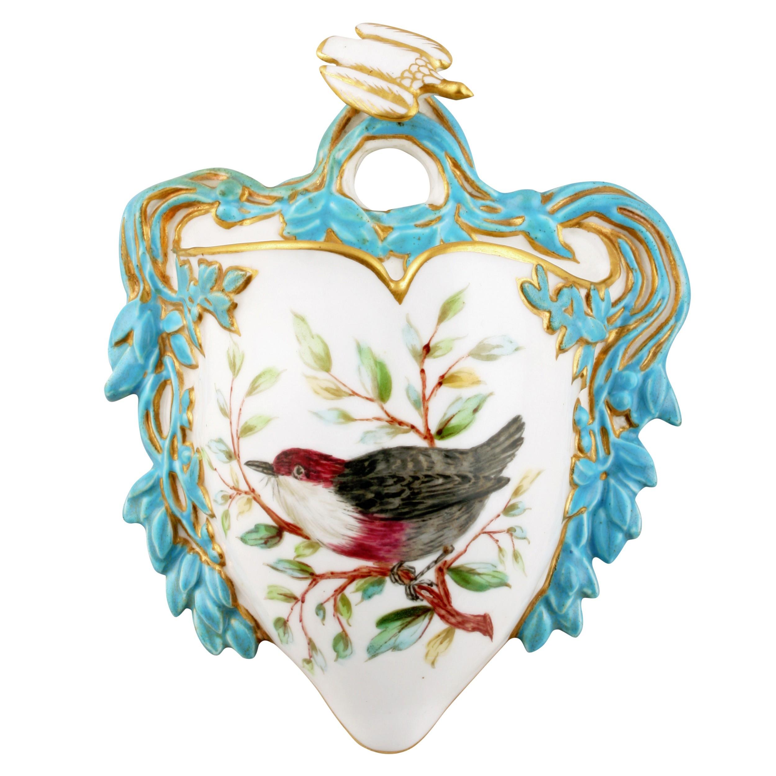 derby crown porcelain posy holder