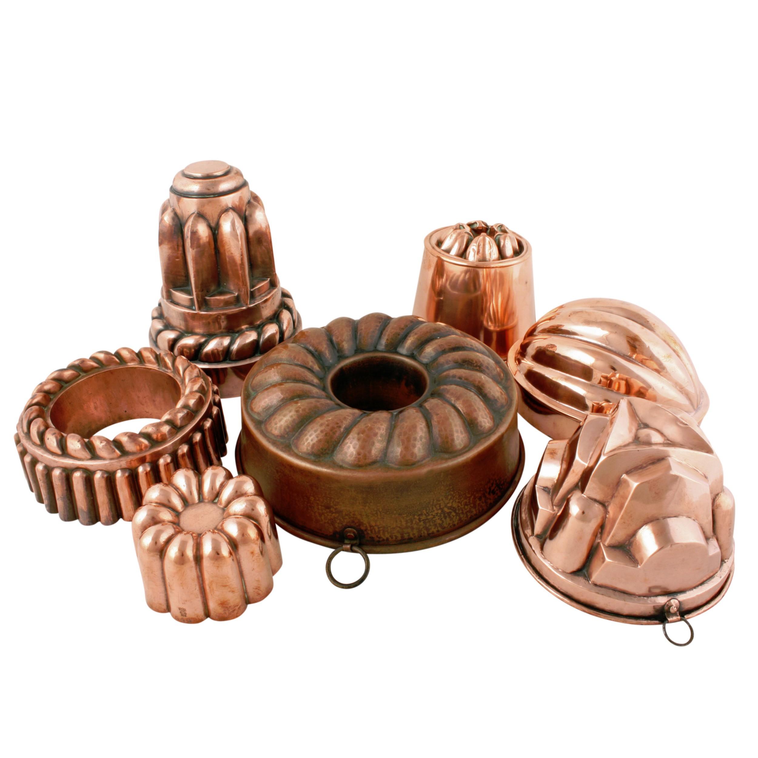 Seven Victorian Copper Jelly Moulds 562182 Sellingantiques Co Uk