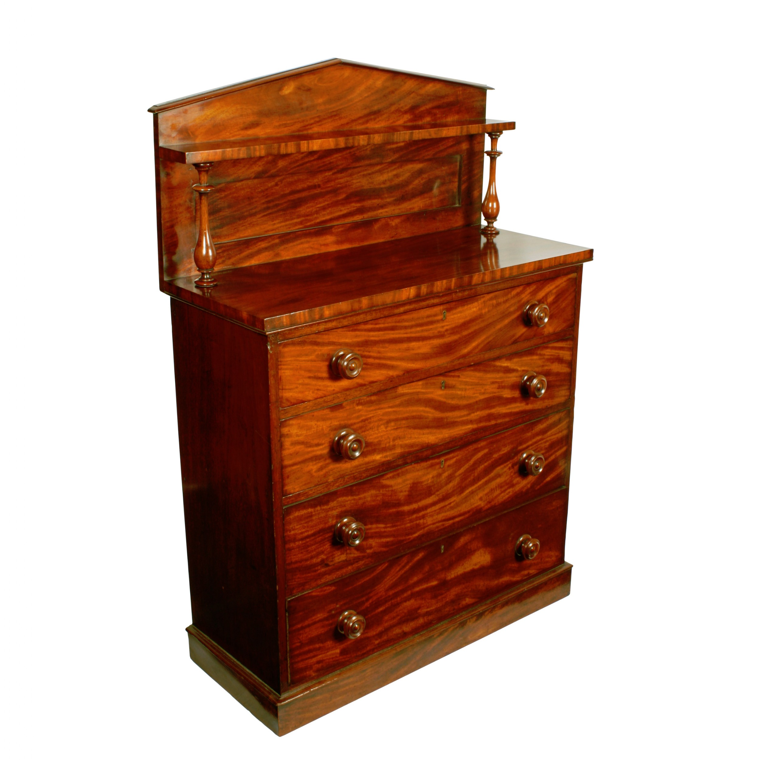 unusual victorian mahogany chest