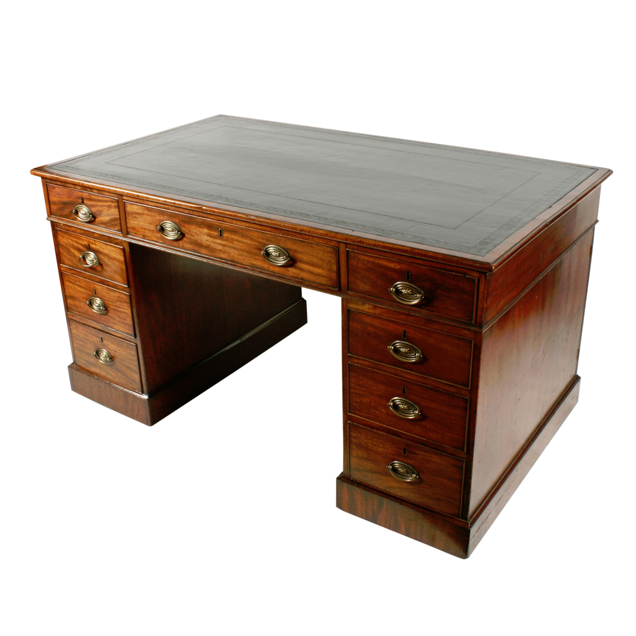 georgian mahogany partner's desk