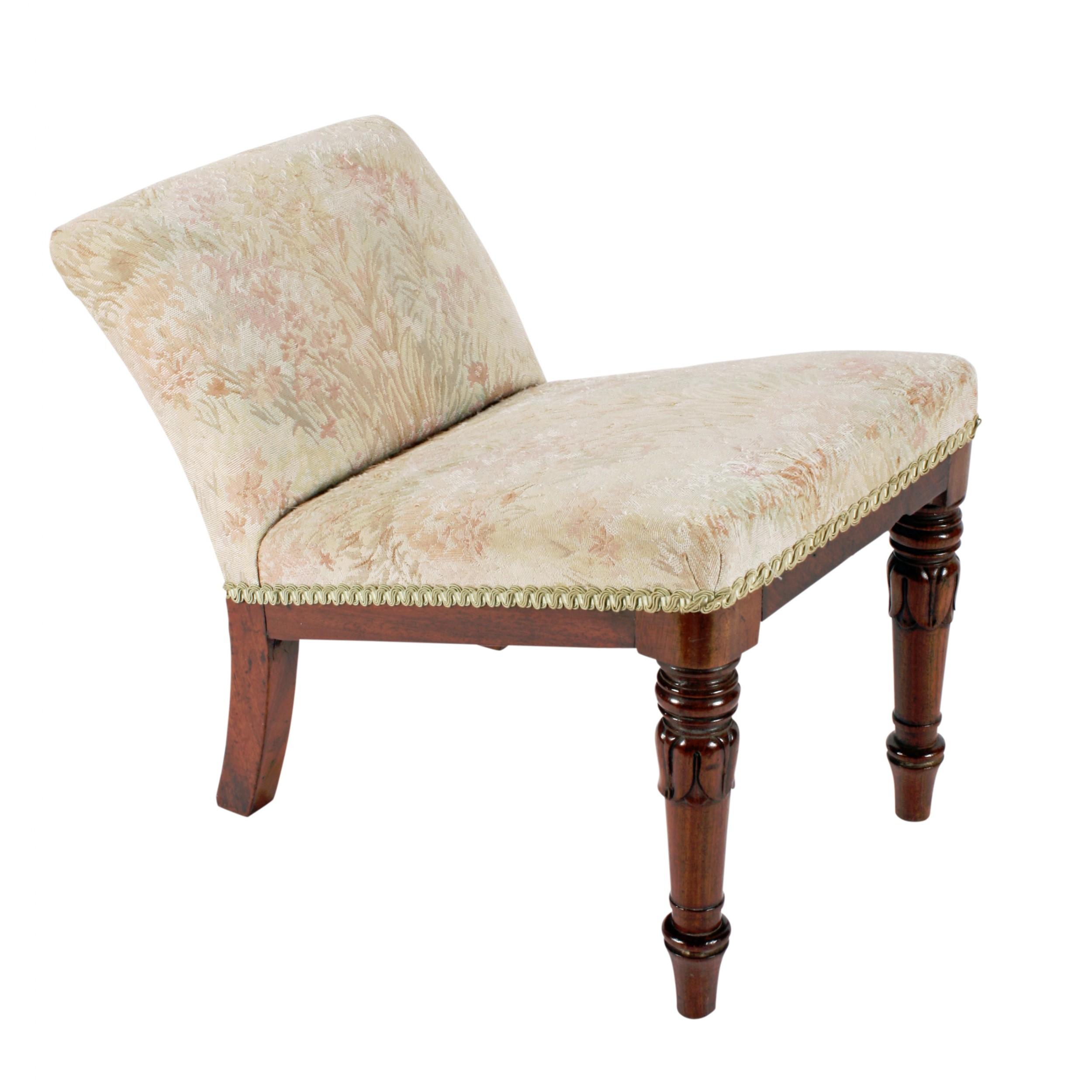 georgian mahogany gout stool