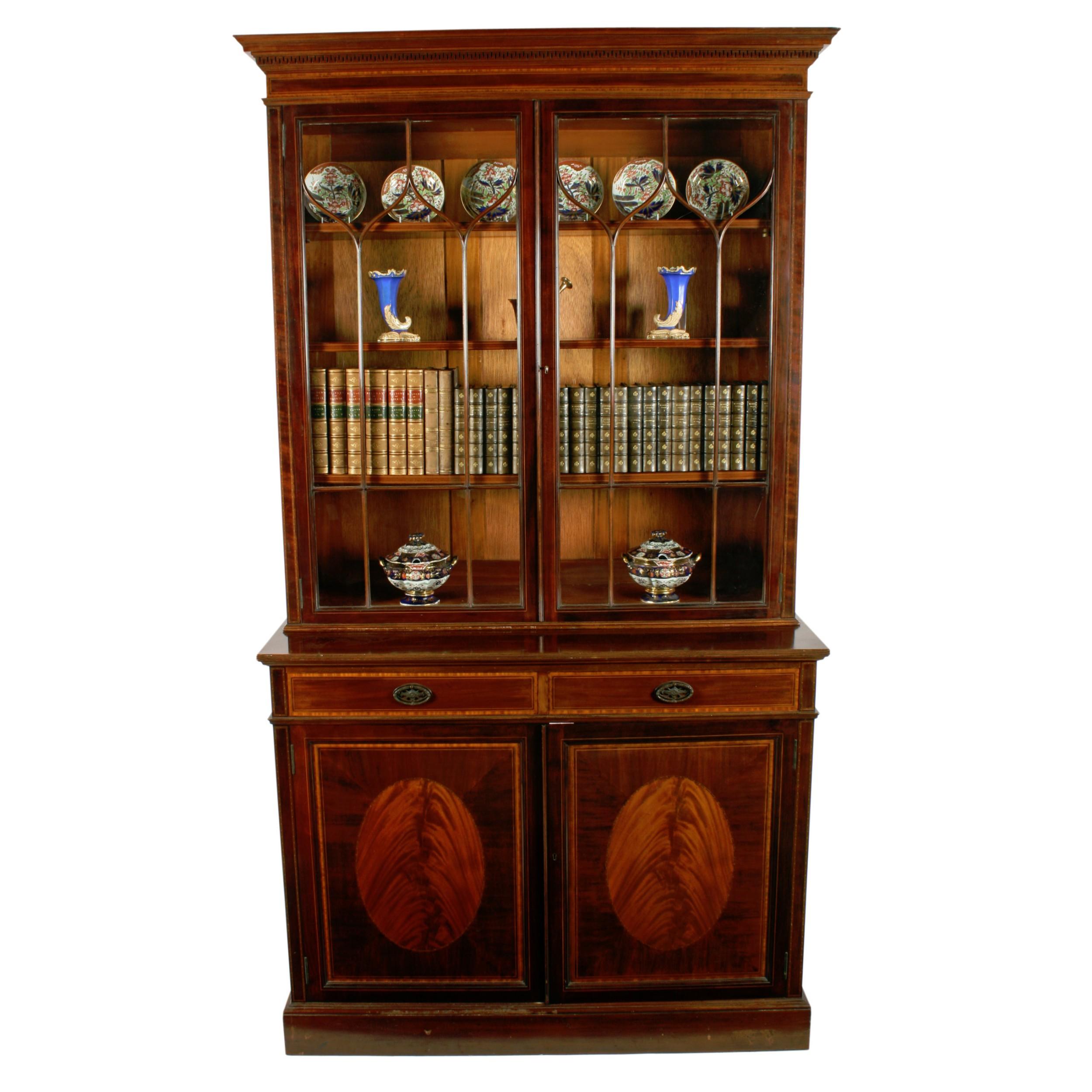 mahogany bookcase by waring gillows