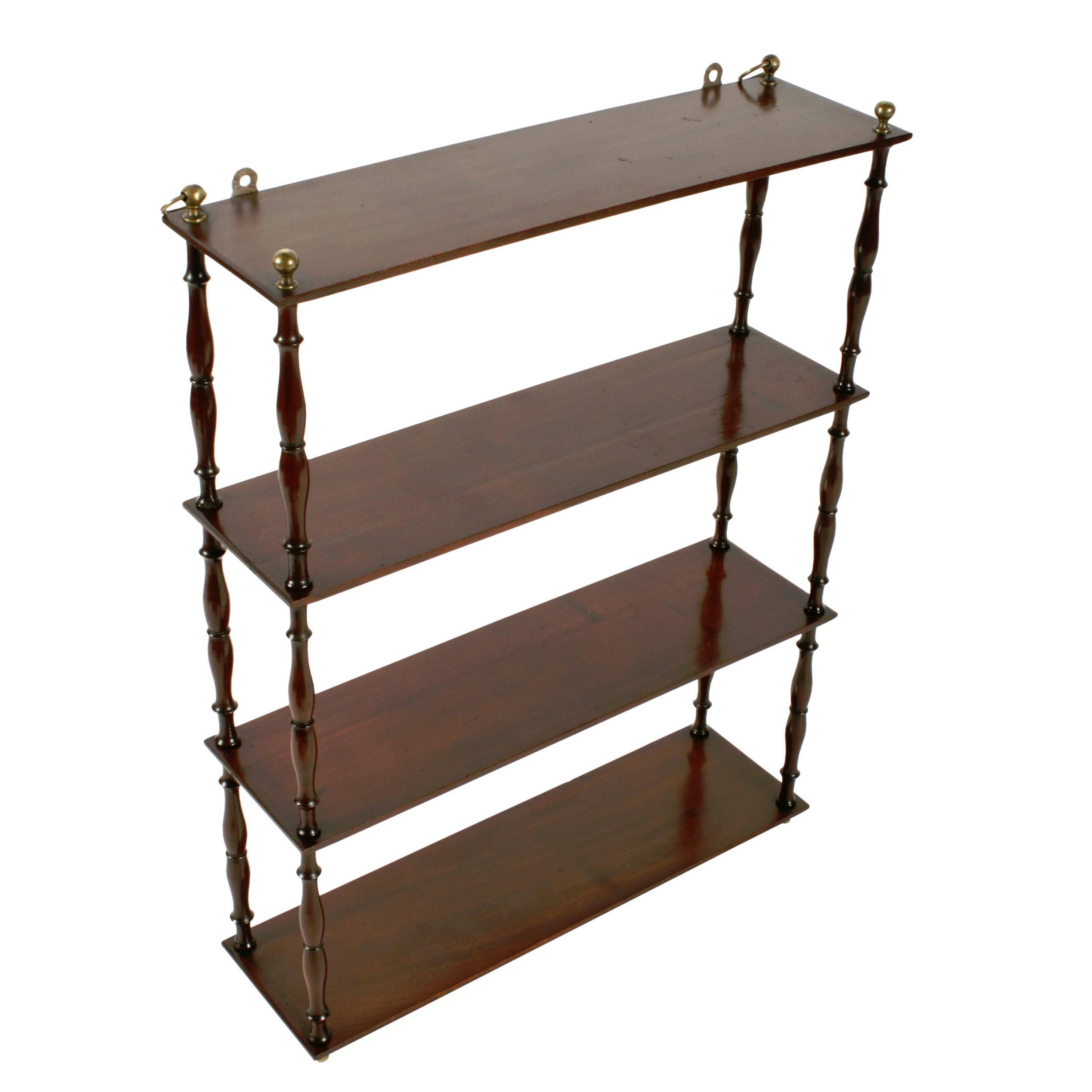 19thc mahogany wall shelves