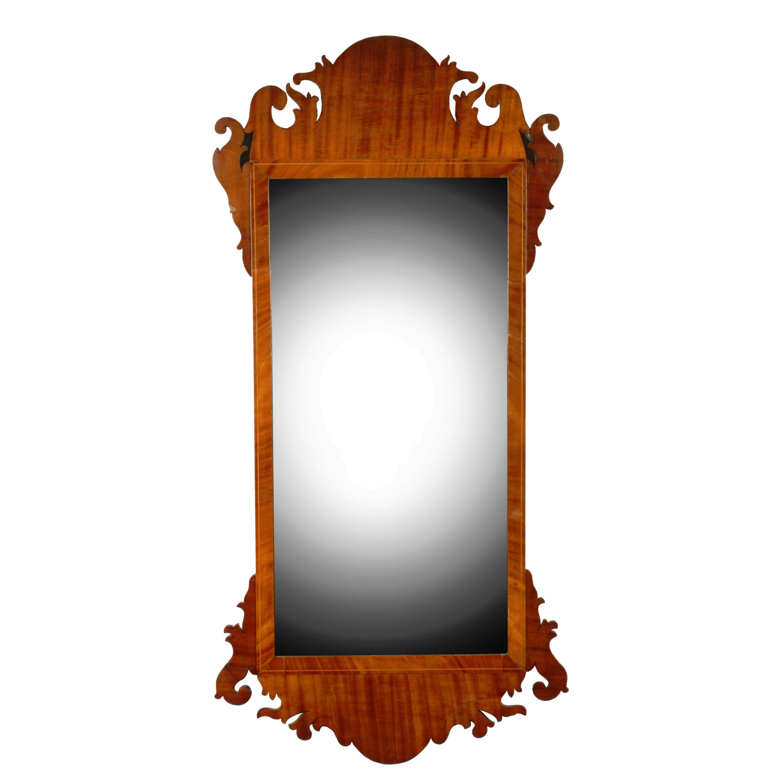 large georgian chippendale wall mirror