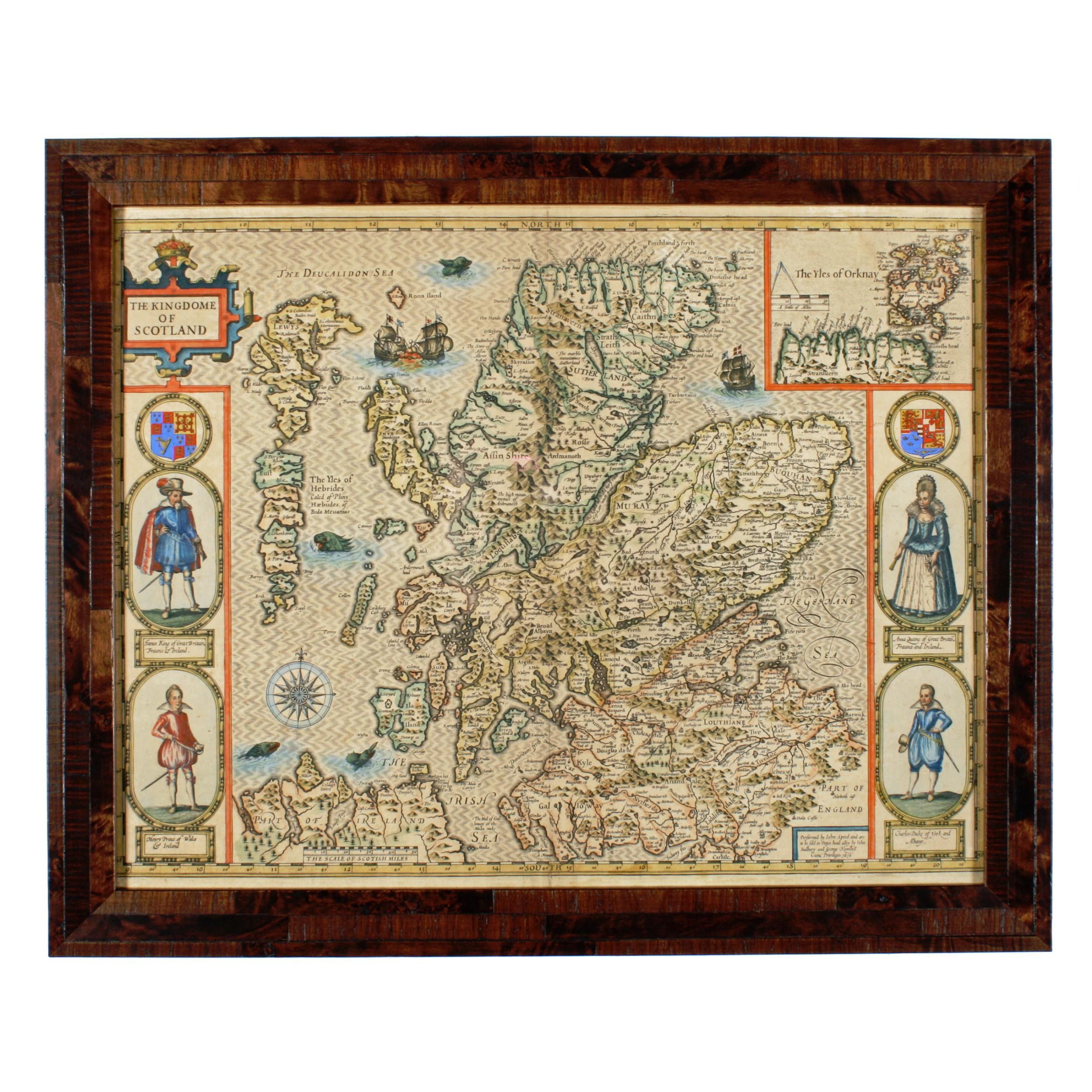 john speed 'the kingdome of scotland' map