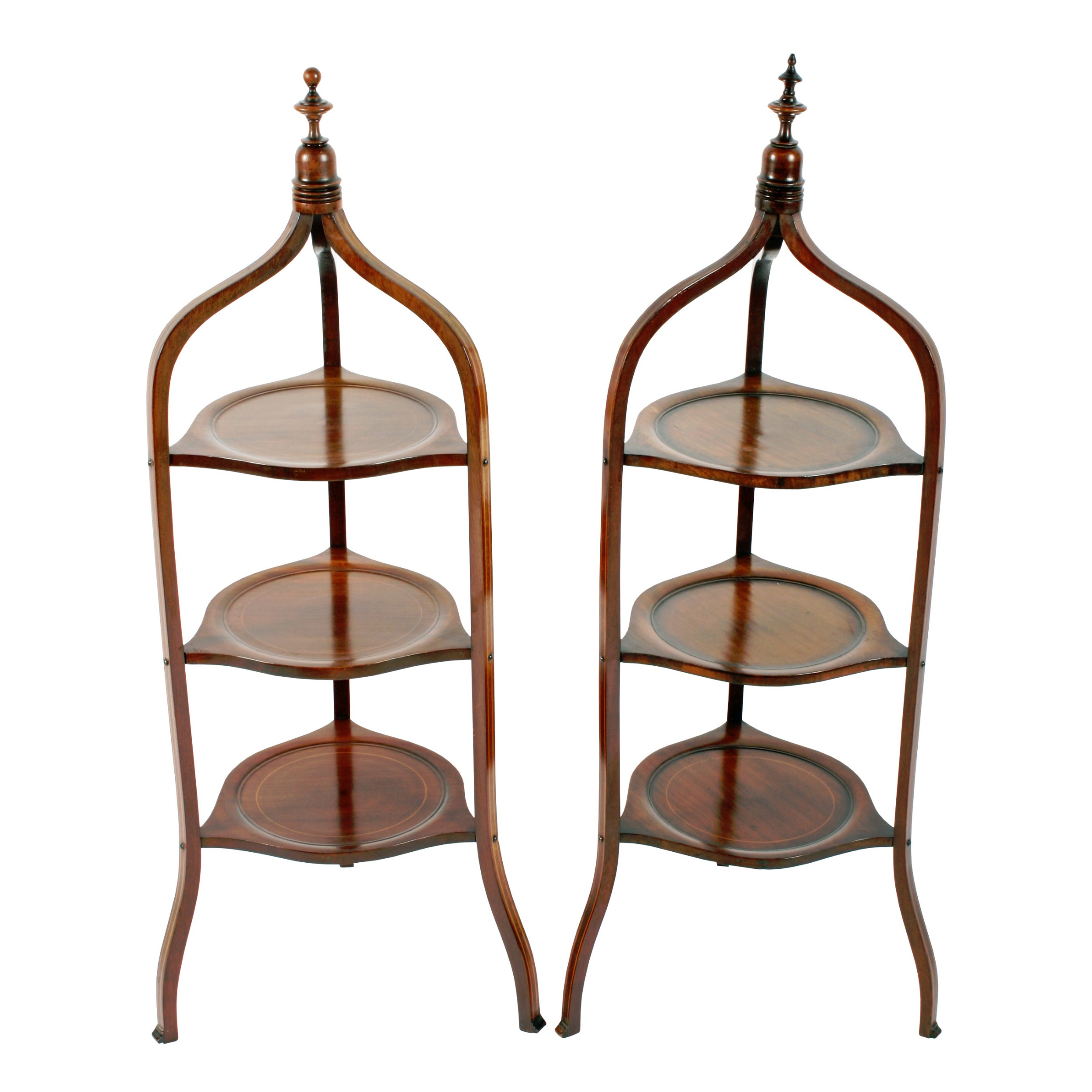 pair of victorian inlaid tagres