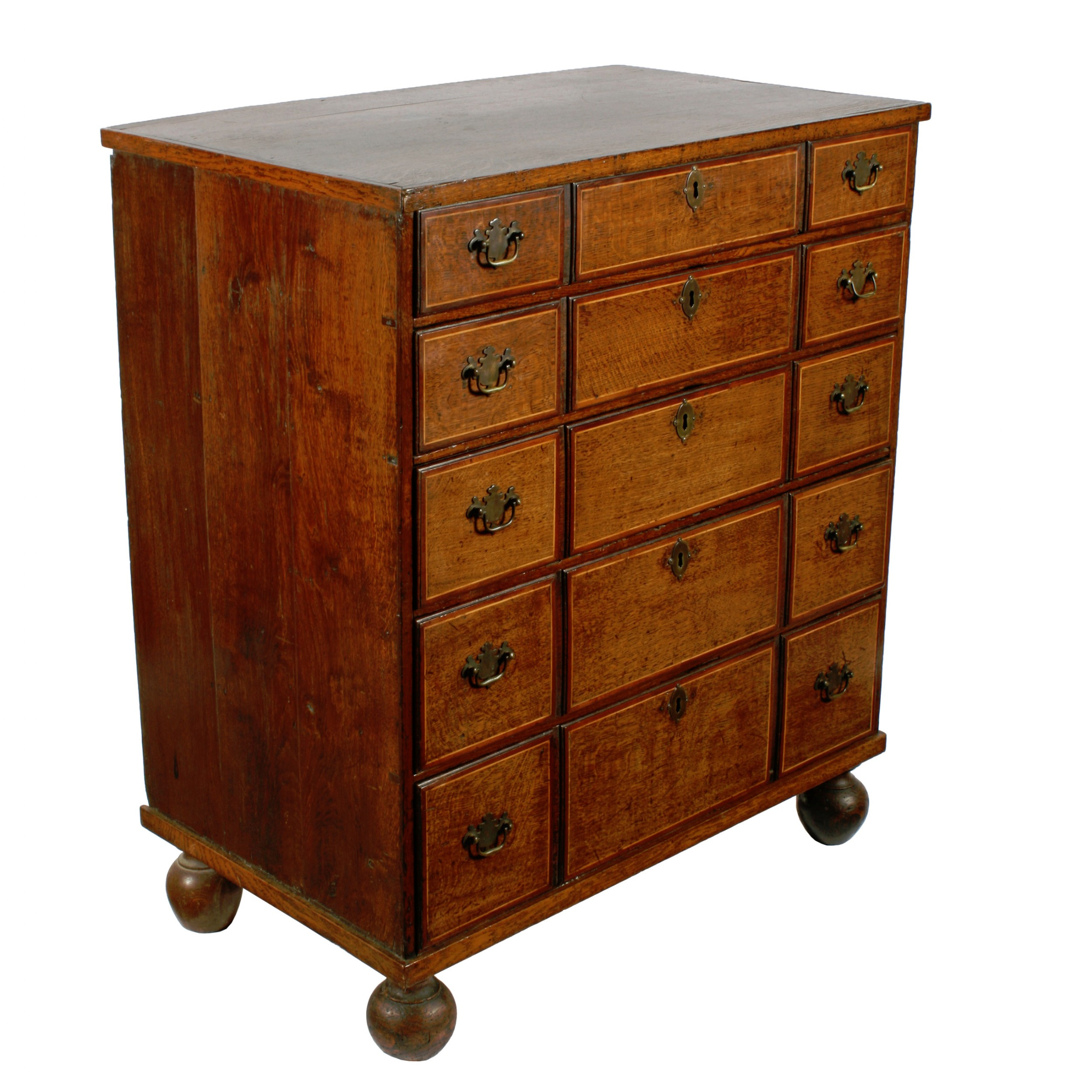 19th century oak chest of drawers