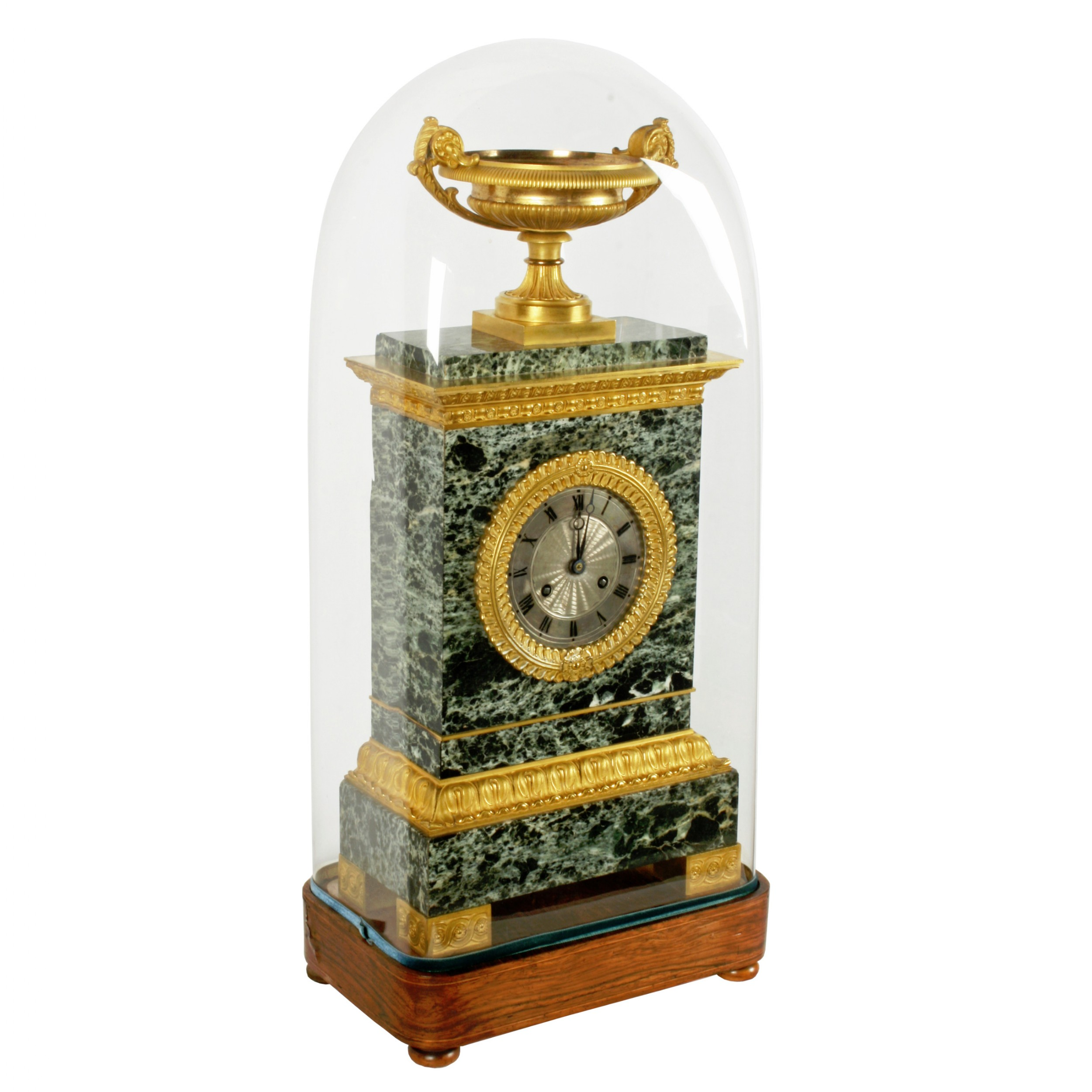 french empire marble ormolu clock