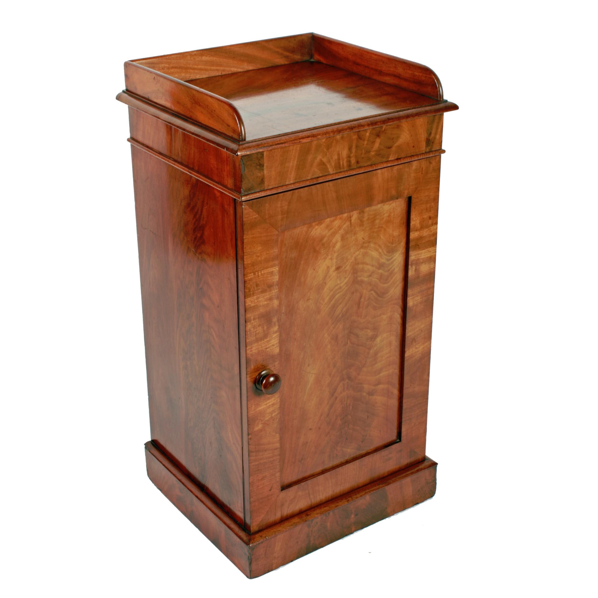 19th century mahogany bedside cabinet