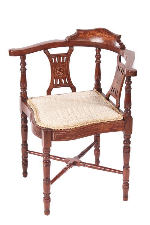 Graver Antiques and Interiors · EARLY GEORGIAN MAHOGANY CORNER DESK CHAIR - Antique Corner Chairs - The UK's Largest Antiques Website