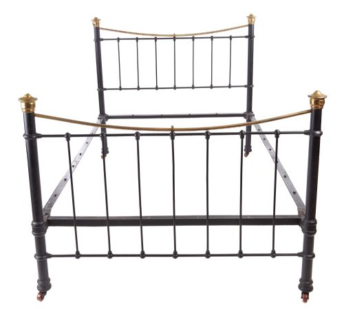 2e64af398ae VICTORIAN BRASS AND IRON BED. £795. Dated 1860. Graver Antiques and  Interiors