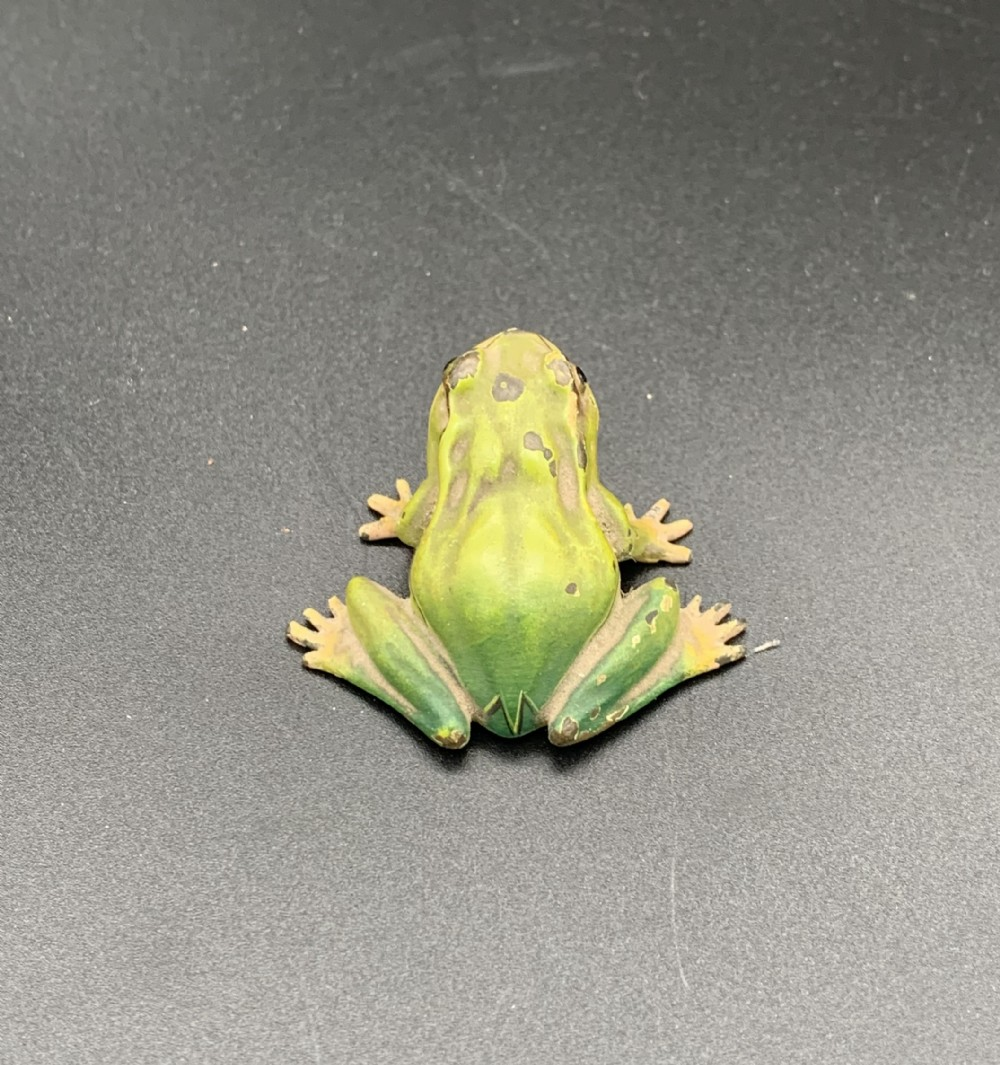 cold painted vienna bronze frog early 20th century