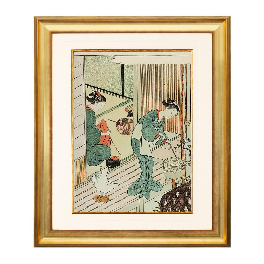 courtesans at leisure suzuki harunobu fine art print 1958