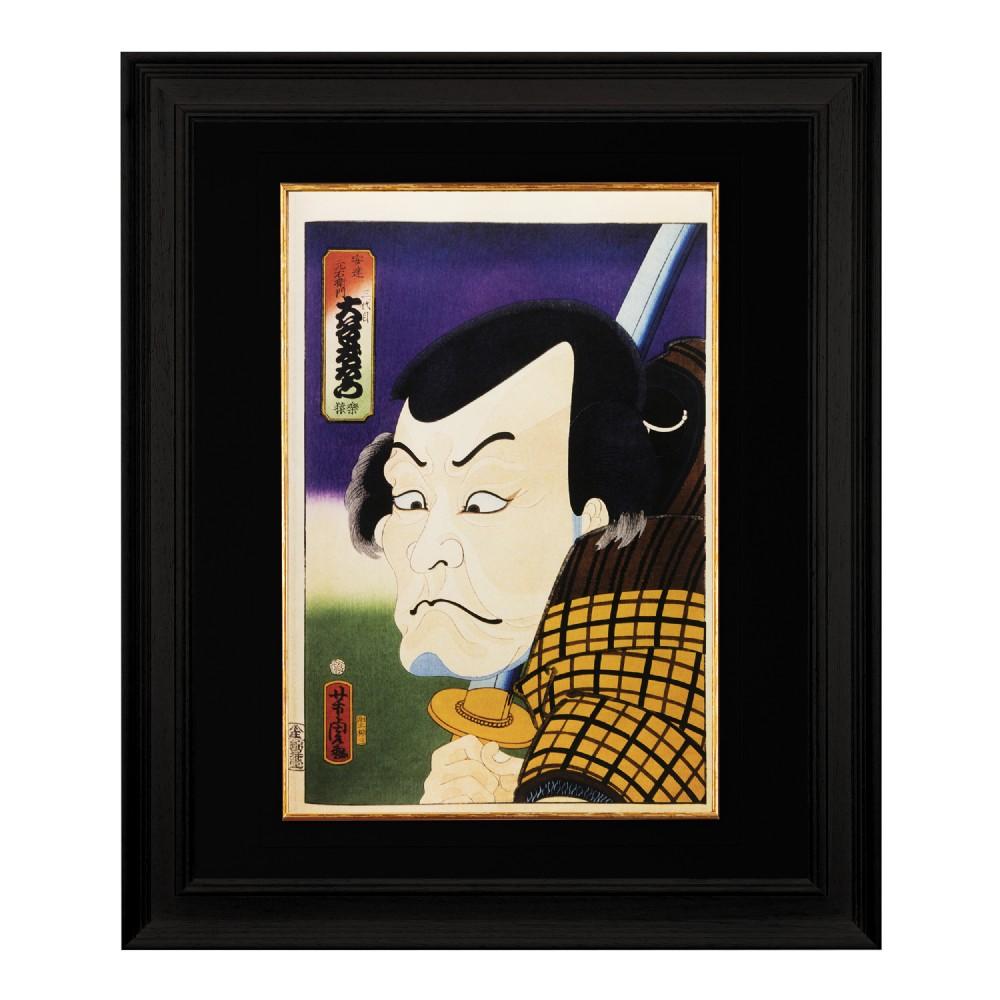 the actor rakuen utagawa yoshitora fine art print 1958