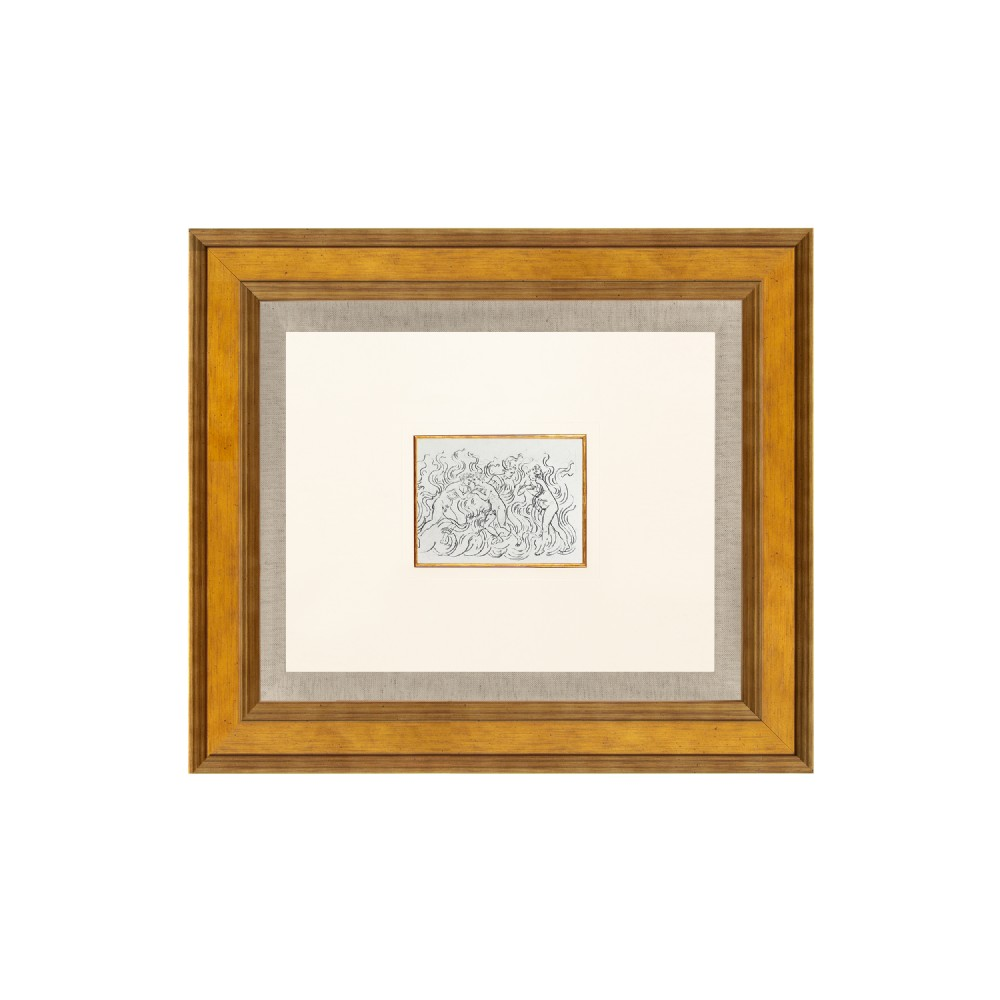 puratorio divine comedy canto xiii lithograph after sandro botticelli 1925