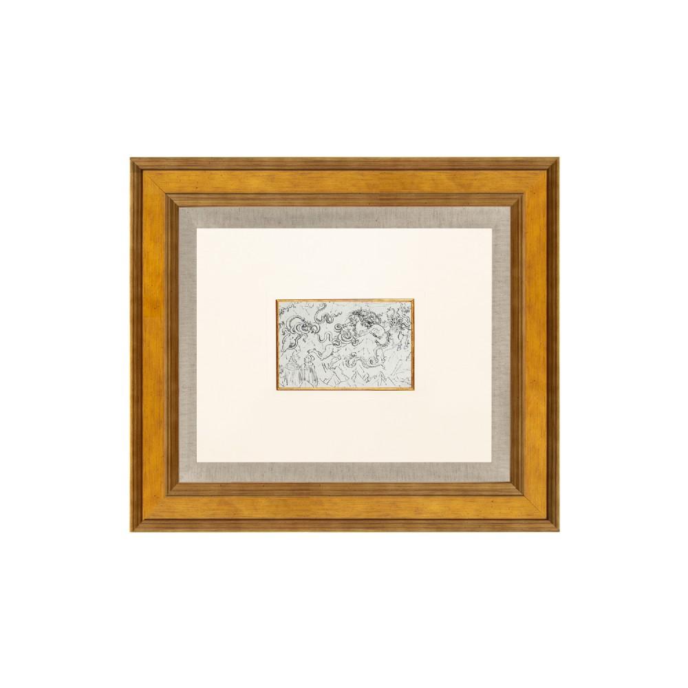inferno divine comedy canto xxv lithograph after sandro botticelli 1925