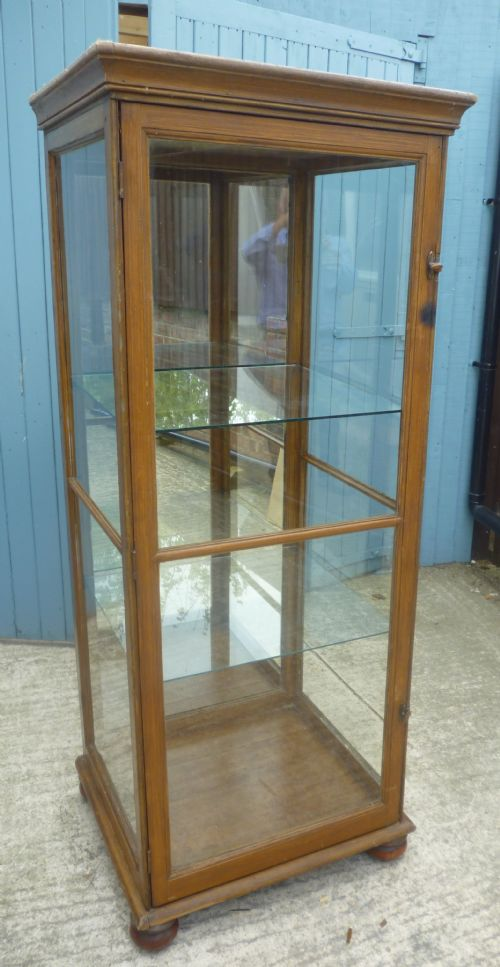 large victorian shop display cabinet