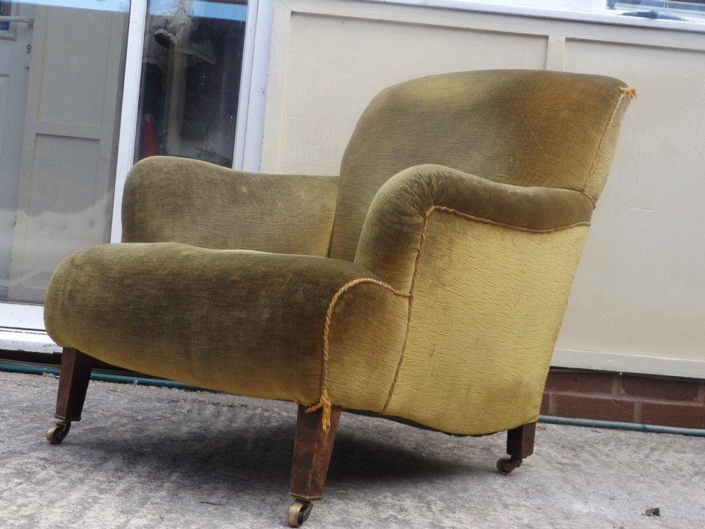 Victorian howard and son style arm chair