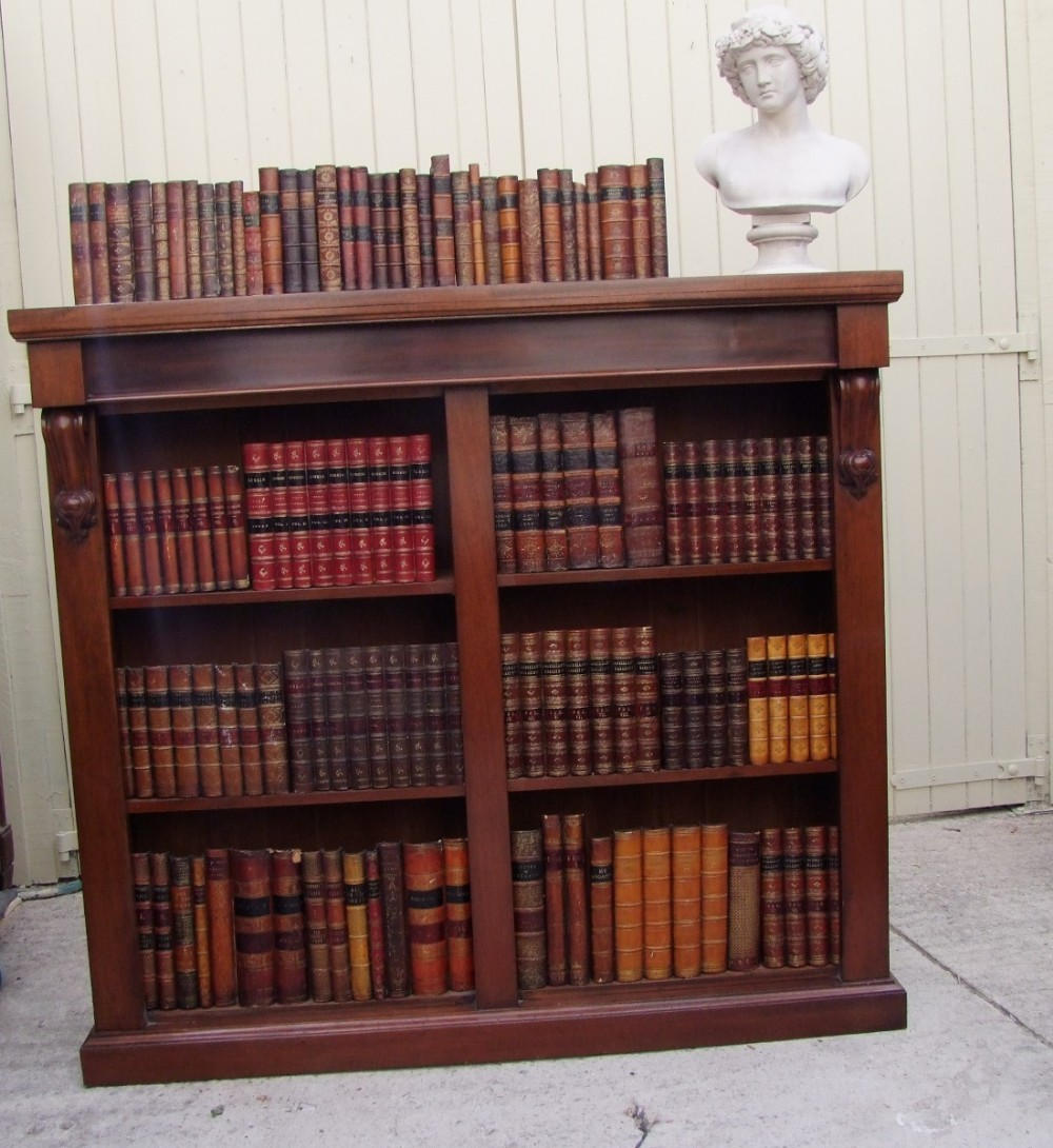 victorian mahogany open bookcase excellent condition