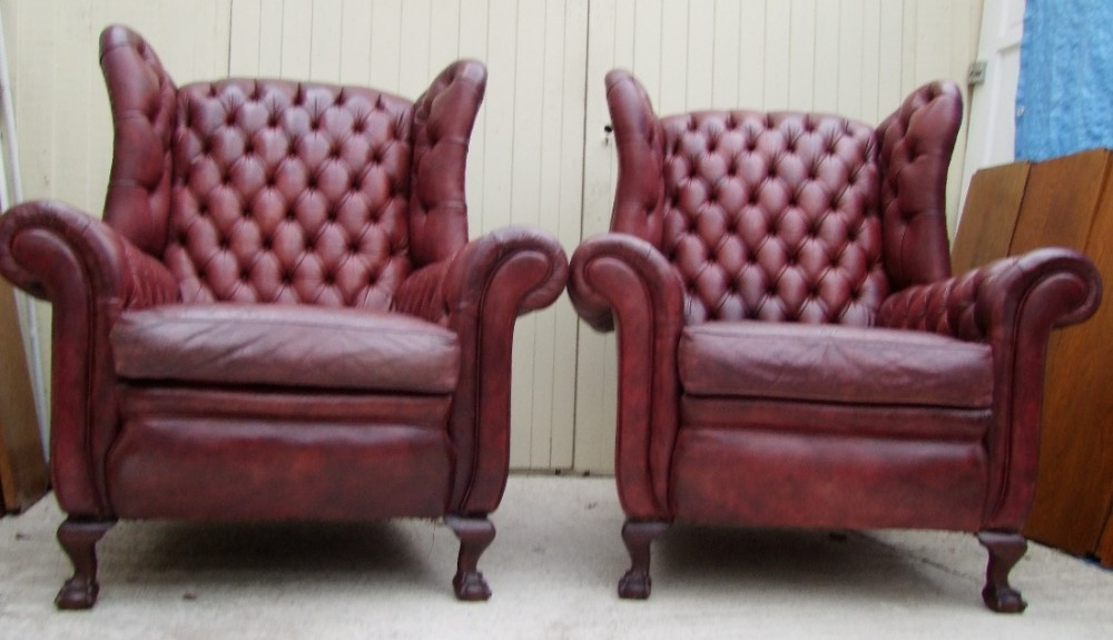 19th century mahogany elbow library chair