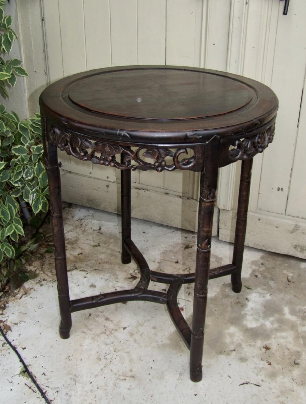 19th century chinese hardwood table