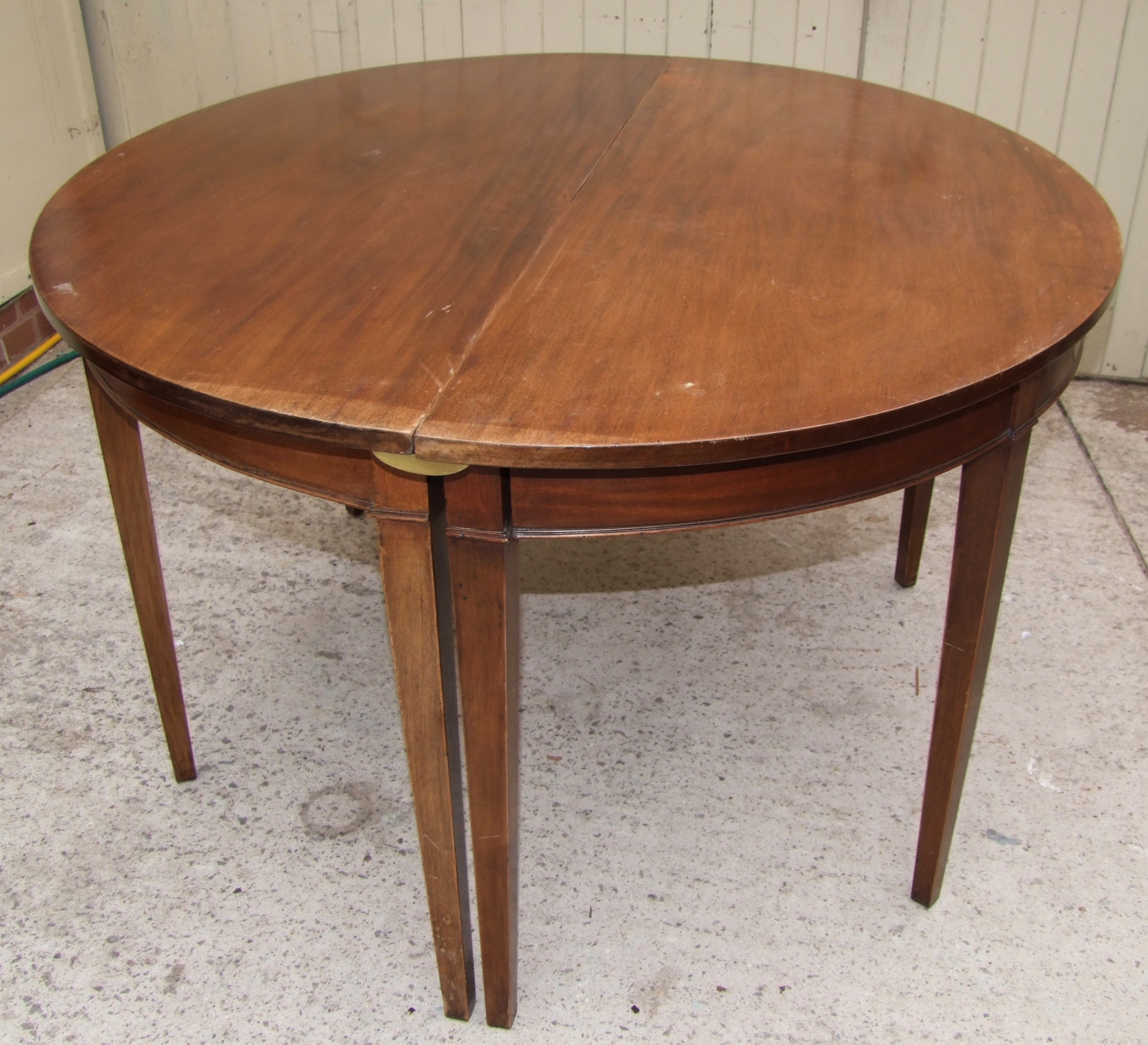 19th century d end oval dining table with one leaf