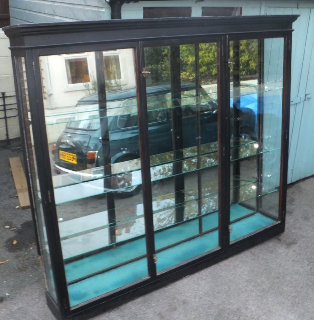 Large Edwardian Mahogany Shop Display Cabinet 305235