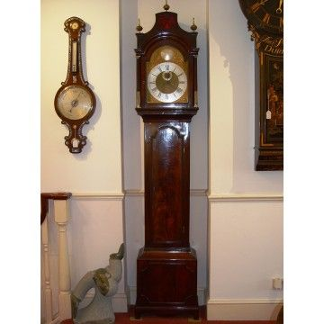 a stunning english george ii 18th century flame mahogany london longcase clock by whitebread london