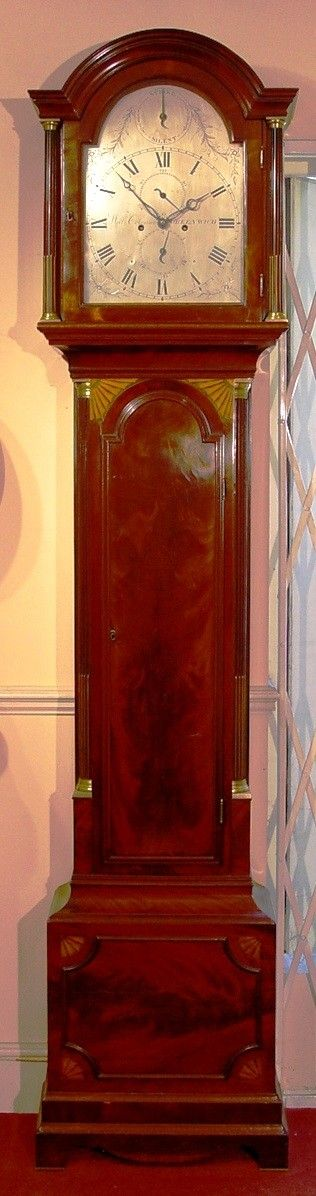 a stunning english george iii late 18th century flame mahogany london longcase clock with strikesilent by william coleman greenwich