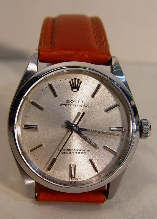 men's all stainless steel rolex oyster perpetual 1002 automatic c1960