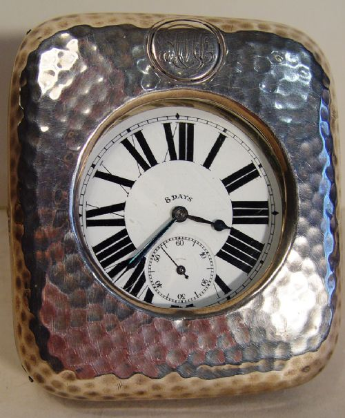 an englishfrench 8day goliath silver london hallmarked timepiece