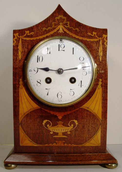a fine quality late 19th century englishfrench solid mahogany bracket clock