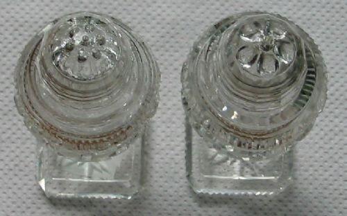 Unusual Cut Crystal Salt Amp Pepper Shakers 72119 Sellingantiques Co Uk