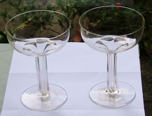 Pair of excellent hollow stem champagne glasses 237611 - Hollow stem champagne glasses ...