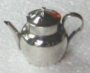 silver miniature teapot pepperette