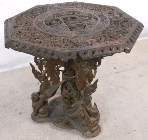 oriental carved centre table