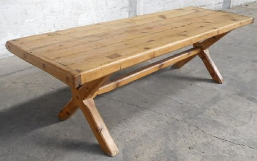 victorian pine 8ft kitchen dining table