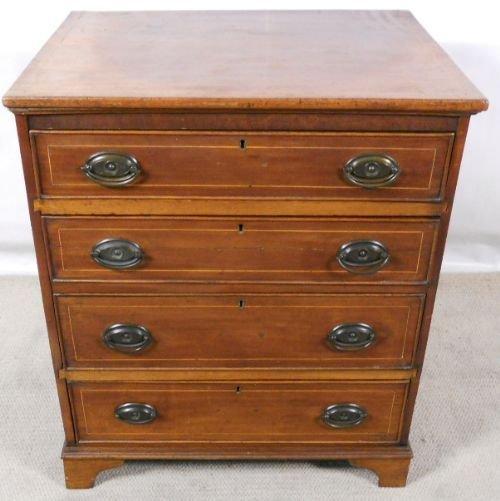 georgian inlaid mahogany small chest of drawers
