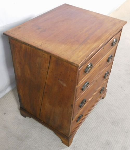 georgian inlaid mahogany small chest of drawers - photo angle #4