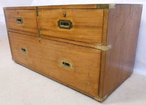 regency teak campaign chest coffee table - photo angle #3