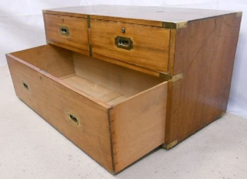 regency teak campaign chest coffee table - photo angle #7