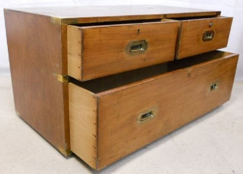 regency teak campaign chest coffee table - photo angle #8