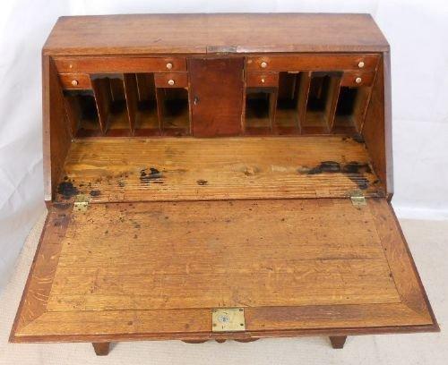 antique oak writing bureau desk 159951. Black Bedroom Furniture Sets. Home Design Ideas