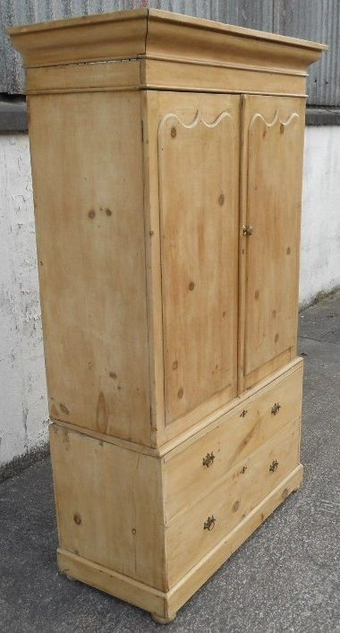 victorian pine hanging linen press cupboard - photo angle #5