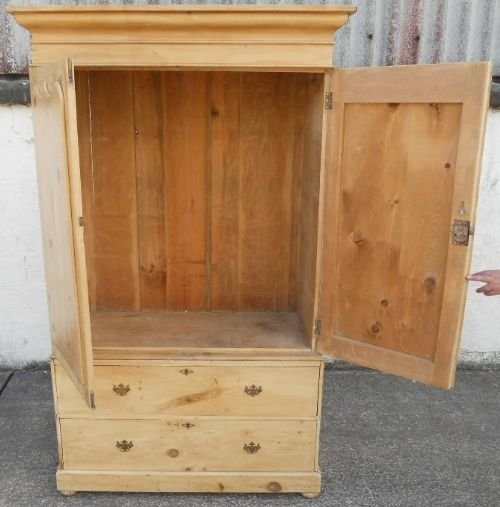victorian pine hanging linen press cupboard - photo angle #9