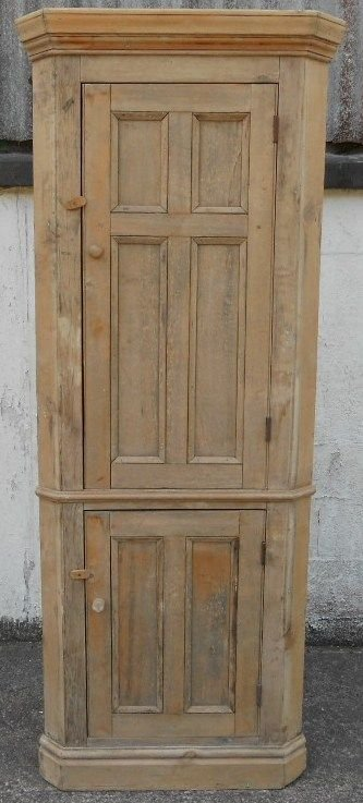 Rustic Pine Tall Standing Double Corner Cupboard 170477