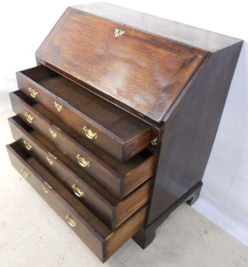 georgian oak writing bureau desk 172186. Black Bedroom Furniture Sets. Home Design Ideas