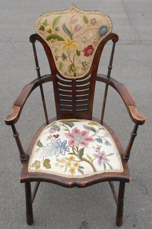 edwardian mahogany upholstered tub armchair