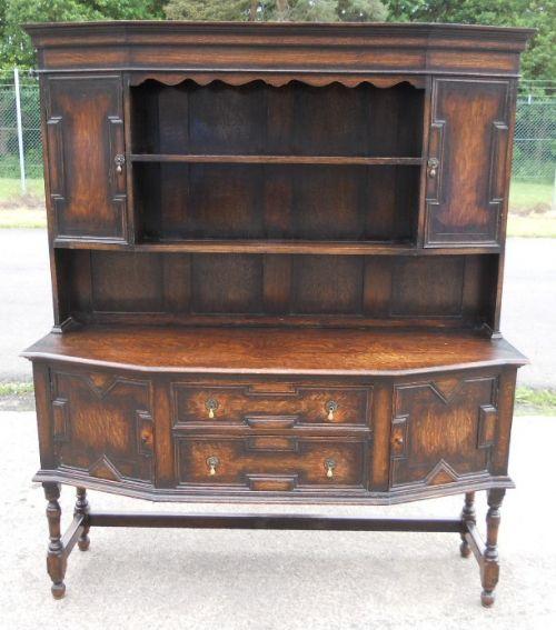 jacobean style oak dresser